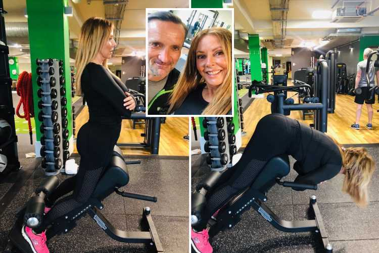 Carol Vorderman bends over in tight leggings to reveal how she keeps bum in shape