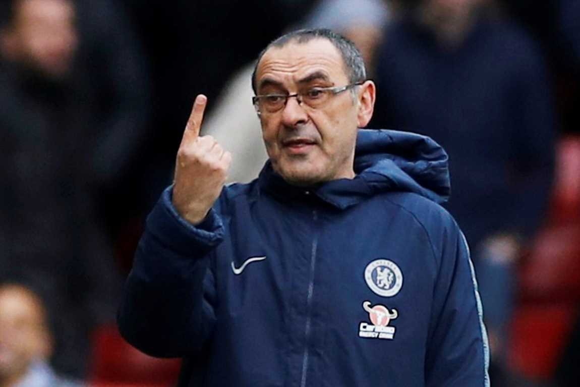 Chelsea boss Sarri predicts title race will be decided by a GOAL POST as Man City and Liverpool battle it out