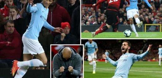 Man Utd 0 Man City 2: Bernardo and Sane strikes see City take major step towards title with Manchester derby win