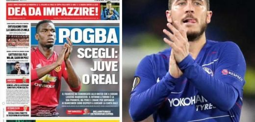 Real Madrid 'confident' of signing Man Utd ace Pogba and Chelsea's Hazard in £200m transfer spree