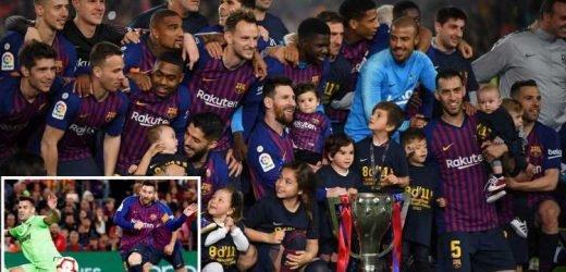Super sub Lionel Messi wins La Liga title for Barcelona with only goal against Levante