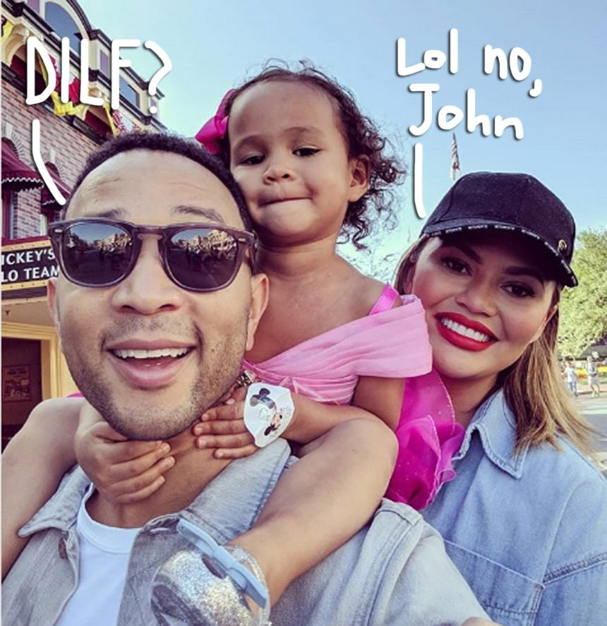 Chrissy Teigen Roasts John Legend's Desire To Become A 'Disneyland DILF' During Luna's