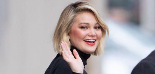 Olivia Holt Makes Fashionable Arrival For 'Jimmy Kimmel Live' Appearance