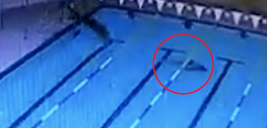 Swimmer saved from drowning by a cleaner who spotted him blacking out and sinking to bottom of empty pool