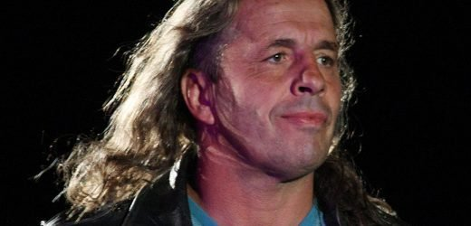 Bret Hart tackled by fan while giving WWE Hall of Fame speech