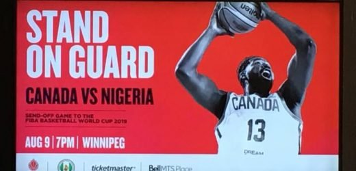 Canadian men's basketball team set to face Nigeria in Winnipeg