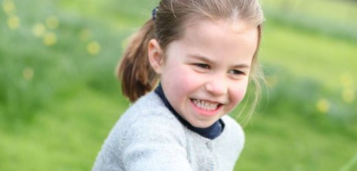Princess Charlotte wears Prince George's hand me downs in fourth birthday snaps