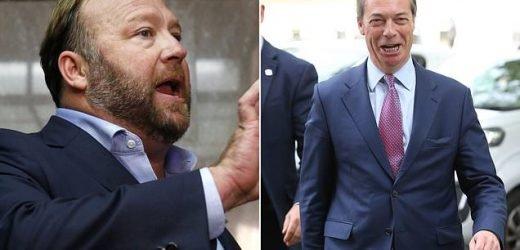 Nigel Farage blasted over appearances on far-right US website Infowars
