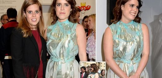 Princess Eugenie joins sister Beatrice at the Animal Ball Art Show