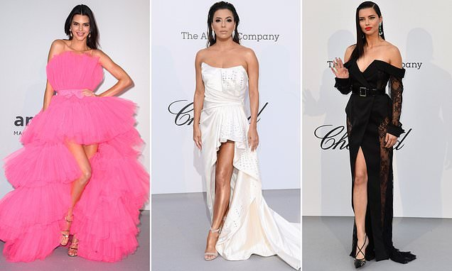 Kendall Jenner, Eva Longoria and Adriana Lima lead glam at amFAR Gala