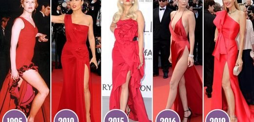 Welcome to Cannes' RED HOT carpet CLUB of scarlet dresses