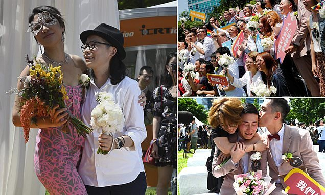 Taiwan hosts Asia's first ever legal gay marriage ceremonies