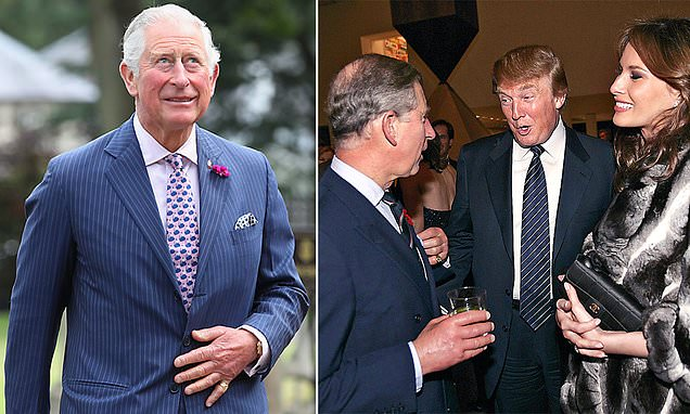 Prince Charles preparing for a discussion with Trump during his visit