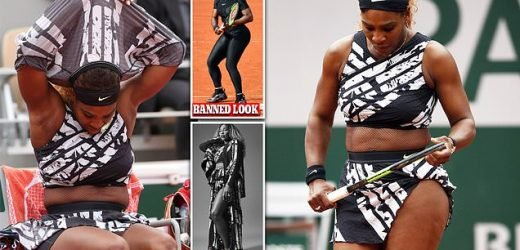 Serena Williams wears zany outfit to the French Open after catsuit ban