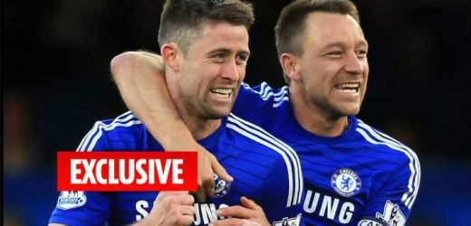 Aston Villa want to reunite Chelsea outcast Gary Cahill with John Terry on free transfer after Premier League promotion