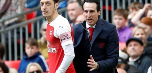 Exiled Mesut Ozil insists he is happy at Arsenal and has not fallen out with boss Emery despite being left out of team