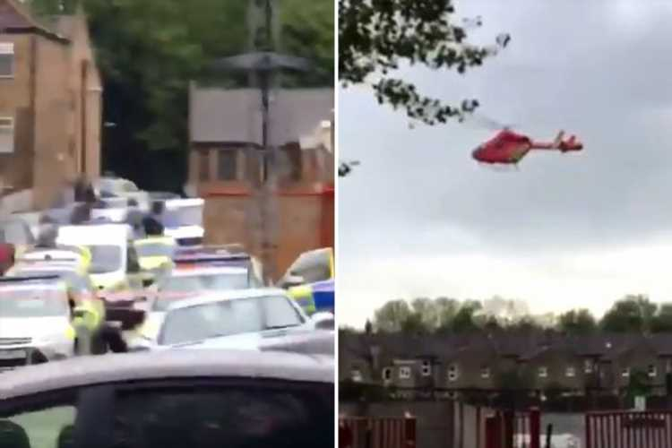Boy, 15, airlifted to hospital after being stabbed near Charlton football ground
