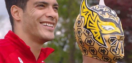 WWE star Sin Cara arrives at Wolves to meet Mexican fan Raul Jimenez after mask celebration that Deeney mocked