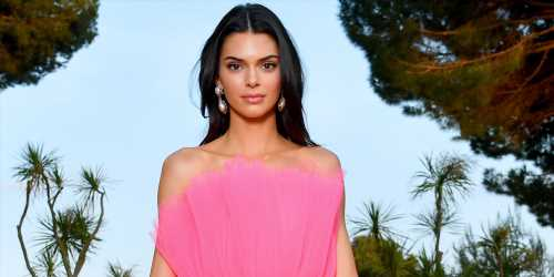 Kendall Jenner Wears Two Dresses In One at amfAR Cannes Gala 2019
