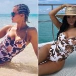 Khloé Kardashian Rocks Same Swimsuit (and Pose!) as Kylie Jenner During Turks and Caicos Girls' Trip