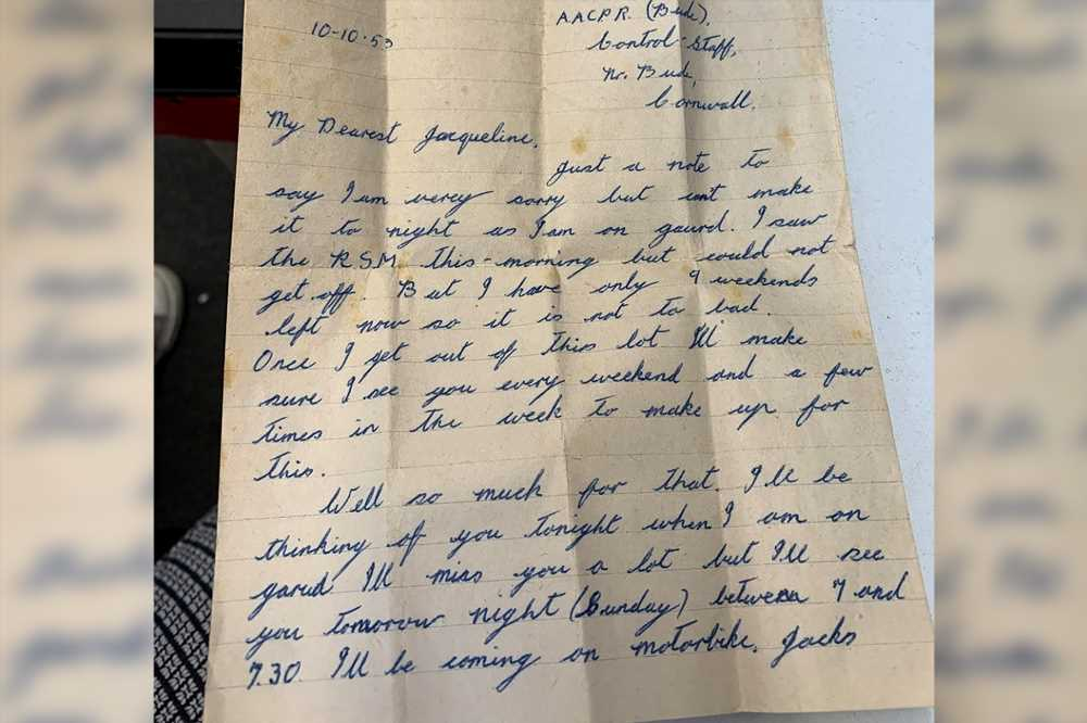Long-lost love letter from soldier sparks nationwide search for owner