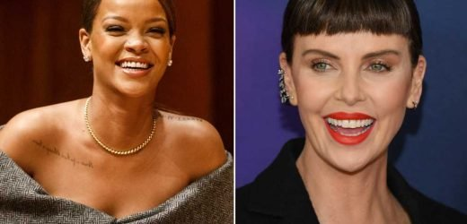 Rihanna trolled Charlize Theron with a T-shirt