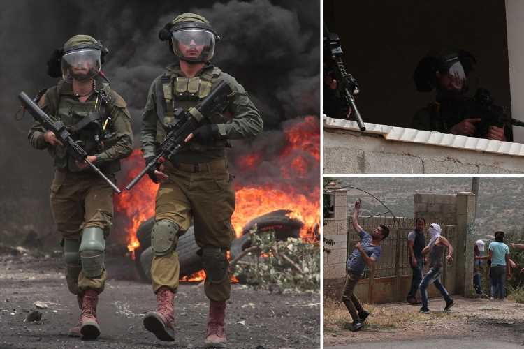Israeli troops battle through wall of flames as violence erupts in West Bank Jewish settlements – The Sun