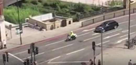 Kate and Wills' police escort filmed moments before grandma, 83, seriously hurt