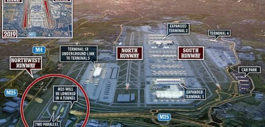 Heathrow's new third runway will go over an M25 tunnel