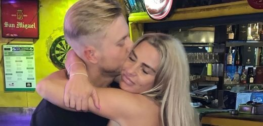 Katie Price looks worse for wear in Majorca bar after disastrous single launch