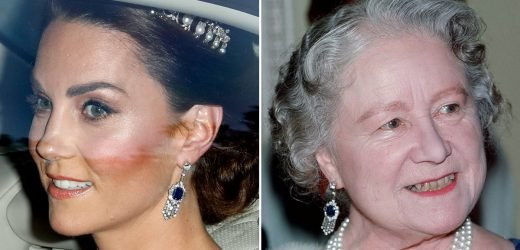 How Kate Middleton Paid Tribute to Princess Diana and the Queen Mother at the State Banquet