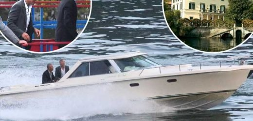 Barack Obama and family join Clooneys on boat trip while staying at Hollywood star's £26million Italian mansion – but face a plumbing disaster on arrival – The Sun
