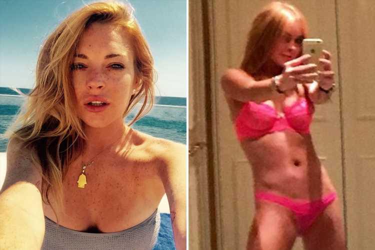 Lindsay Lohan Sends Fans Wild As She Strips Fully Naked -2147