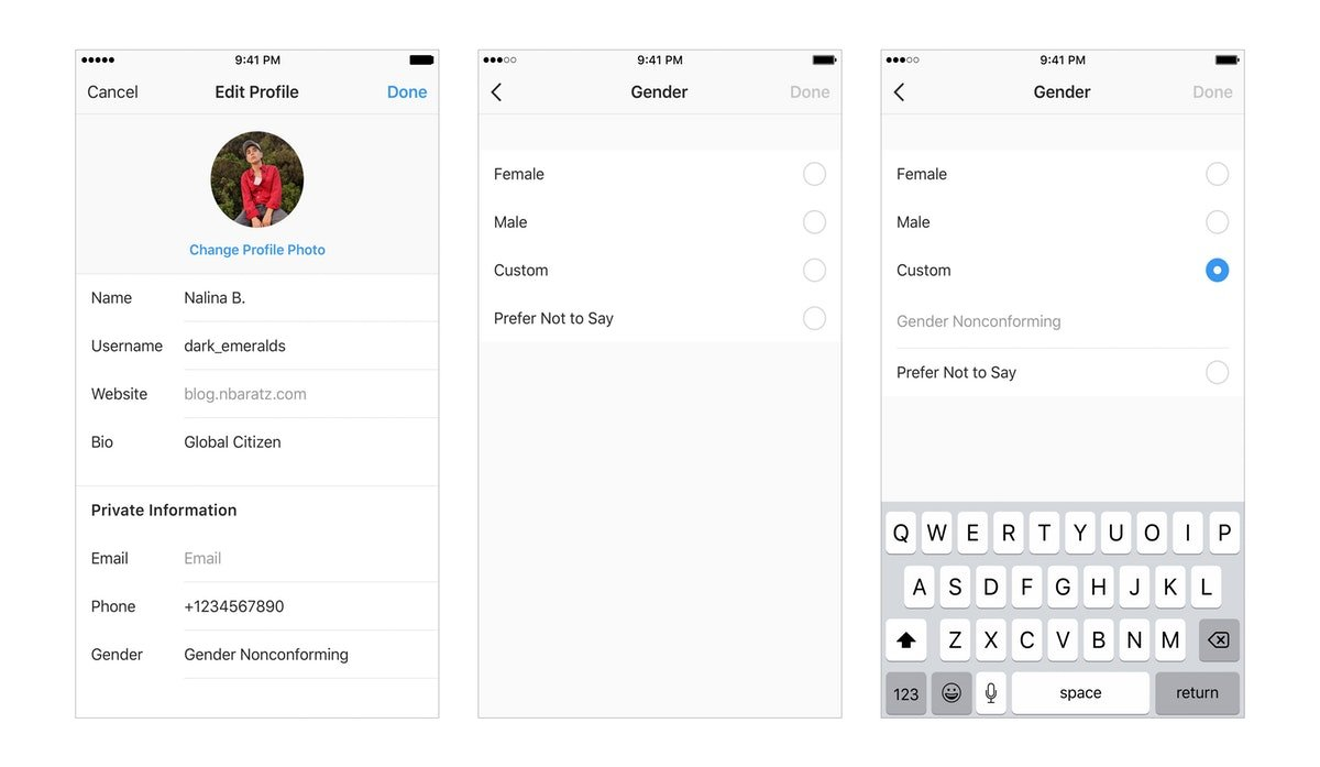 "Instagram's New ""Custom"" Gender Option Was Added To The App In Honor Of Pride 2019"