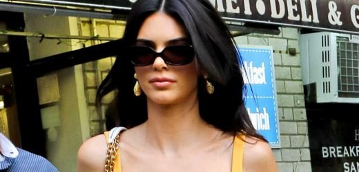 Kendall Jenner dresses to match her drink