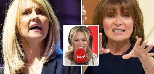 Lorraine Kelly and Esther McVey: Amanda Holden laughs at McVey swipe