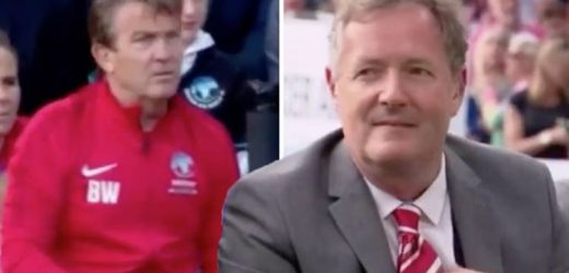 Soccer Aid 2019: Piers Morgan wrongly blames Bradley Walsh for throwing water at him