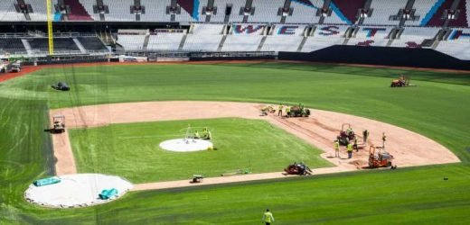 West Ham's London Stadium transformed for Major League Baseball series