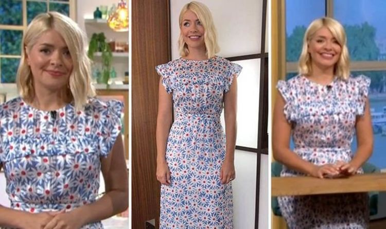 Holly Willoughby makes a stylish return to ITV This Morning today – where to buy her look