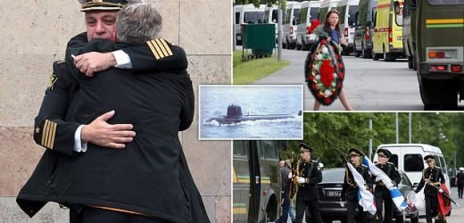 Coffins of hydronauts killed in submarine fire arrive in St Petersburg