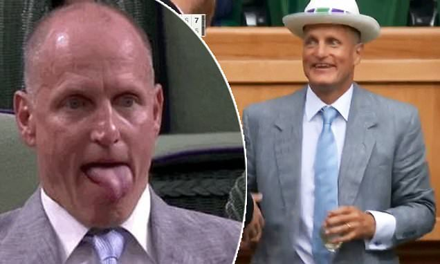 Woody Harrelson drinks it up and lives his best life at Wimbledon