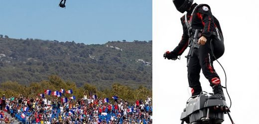 French 'flying soldier' plans to cross the Channel on his hoverboard