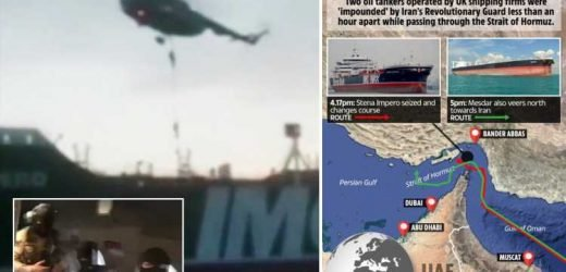 Dramatic moment Iran seizes Brit oil tanker as balaclava-clad commandos abseil onto deck from helicopter in the Gulf – The Sun