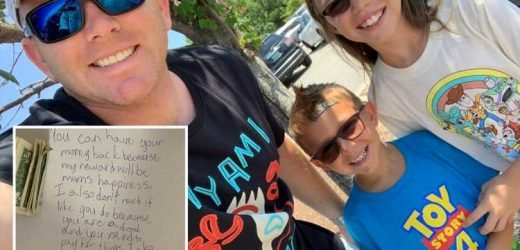 Nine-year-old girl gives her £8 chore money BACK with a sweet note saying her 'reward will be mum's happiness' – The Sun