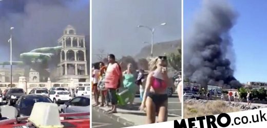 Tourists flee in terror as black smoke smothers Gran Canaria water park