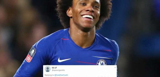 Chelsea fans slam 'terrible' news Willian to sign new two-year deal despite No10 shirt gaffe – The Sun