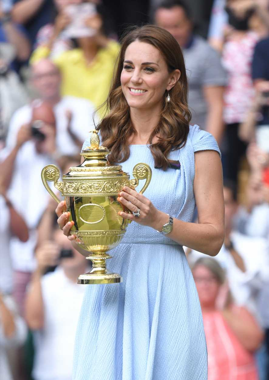 Kate Middleton steps out for Wimbledon date with Prince William in breezy summer dress