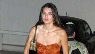 Kendall Jenner Parties With Friends In Skintight Orange Mini While Vacationing In Mykonos