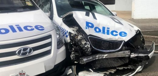 Van that crashed into police cars found carrying $140M of methamphetamine