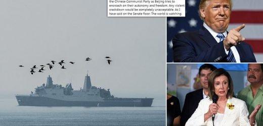 China 'bans two US warships from visiting Hong Kong' amid protest row